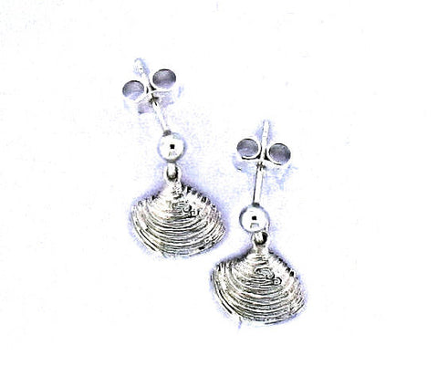 Silver venus shell drop earrings A D 3-10