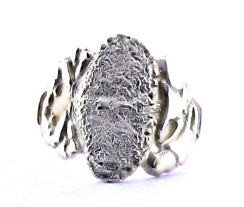 silver full crab ring A R3-7