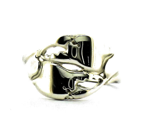 Silver double crab claw ring A R 2-1
