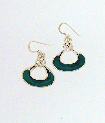 Turquoise and Silver Drop earrings BP0478