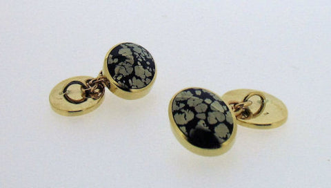 Septarian Pyrite and 9ct Gold Cufflinks CH1/5