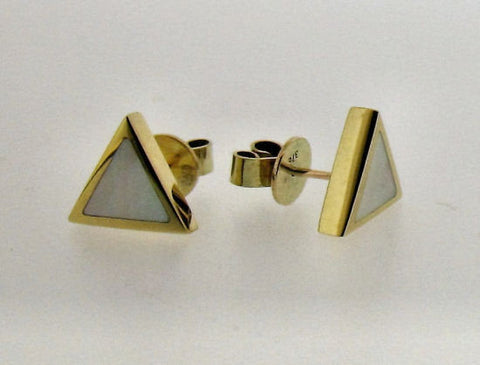 Mother-of-Pearl Triangular Studs E3