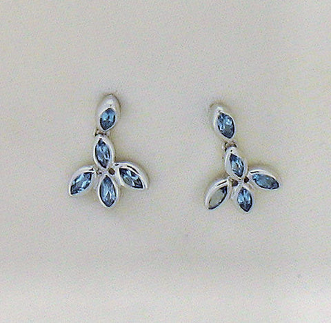Blue Topaz and Silver Drop Earrings ER337