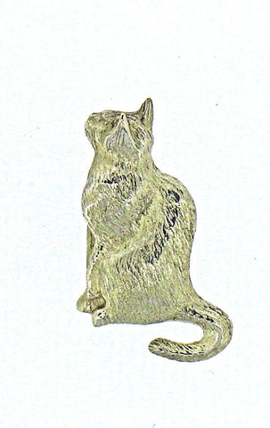 Silver Cat Pendant JC112