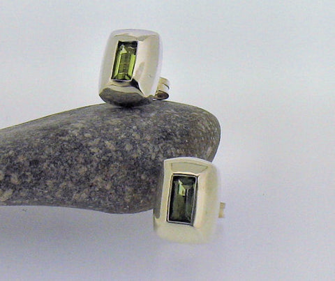 Peridot Silver Stud Earrings JWER764