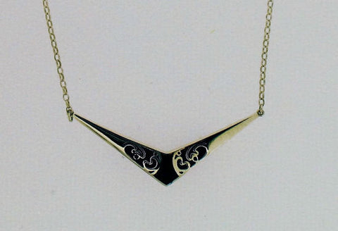 Whitby Jet and Silver Necklace S4-No7
