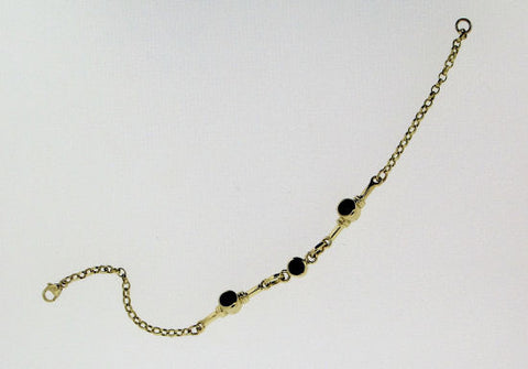 Whitby Jet and 9ct Gold Bracelet NBR38