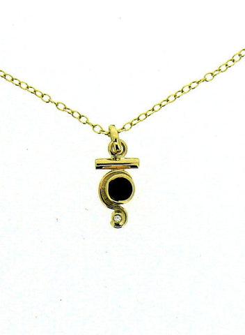 Whitby Jet and Diamond 9ct Pendant NP18