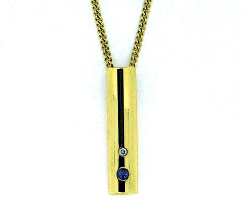 Tanzanite Gold & Diamond Pendant N 9 P04