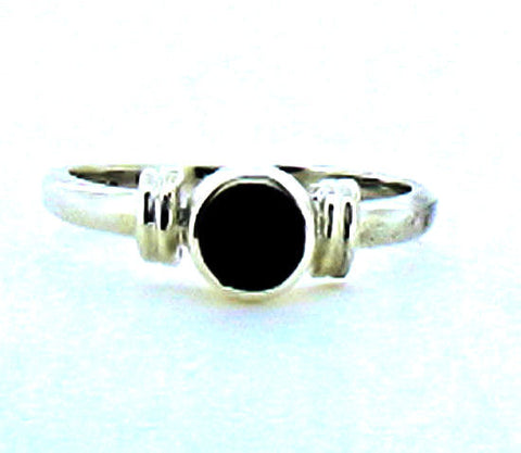 Whitby Jet Silver Ring NR31