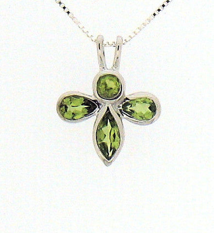 Peridot and Silver Pendant PD019