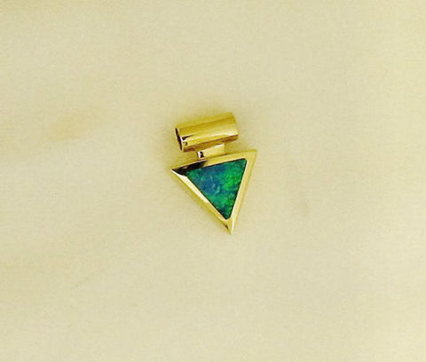 Opal and Mother-of-Pearl 18ct Gold Pendant PD3