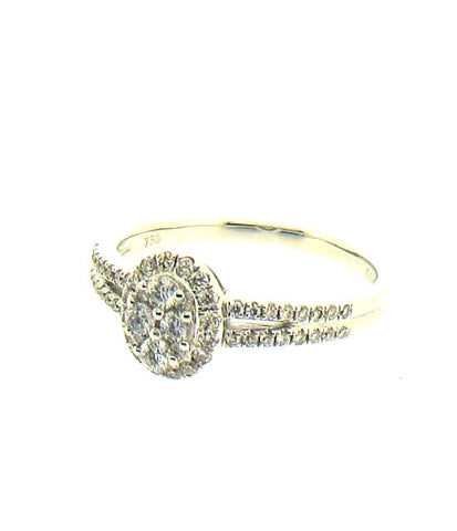 Diamond and White Gold Ring R432
