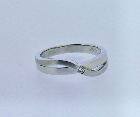Diamond and 9ct White Gold Ring R535