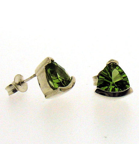Peridot Silver Stud Earrings S1027