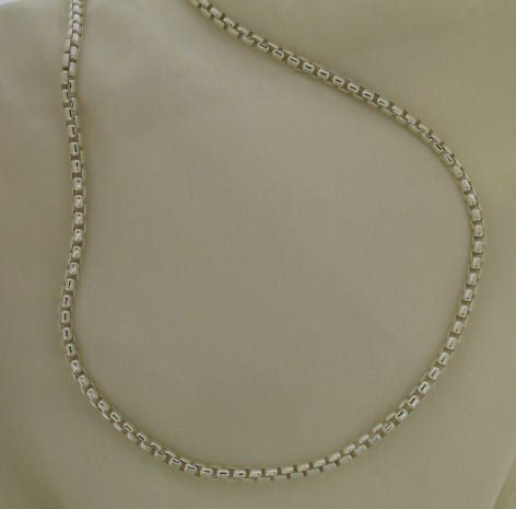 Silver Box Belcher Chain 20 inch long SBOB300