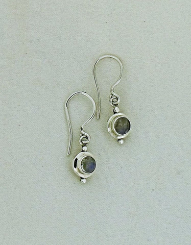 Moonstone and Silver Drop Earrings SE103