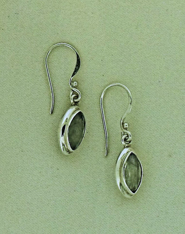 Moonstone and Silver Drop Earrings SE106