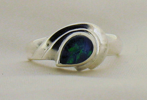 Opal Triplet and Silver Ring SR394OT