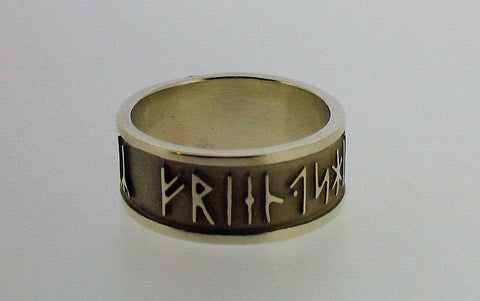 Silver Celtic Runic Band Ring SXR236
