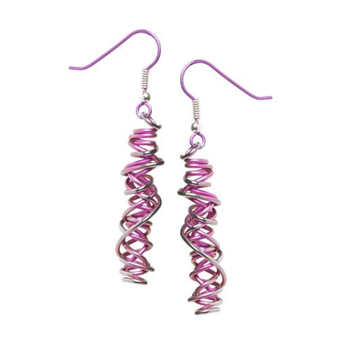 Titanium (Pink) Chaos Drop Earrings E324.63V