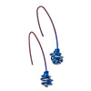Titanium (Blue) Chaos Drop earrings E401.24V
