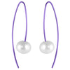 Titanium (Purple) and Freash Water Pearl Earrings E403.72V