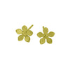 Titanium (Lemon Yellow) Flower Studs S332.52V