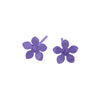 Titanium (Purple) Flower Studs S332.72V
