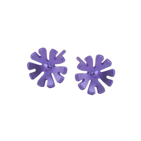 Titanium (Purple) Flower Studs S333.72V