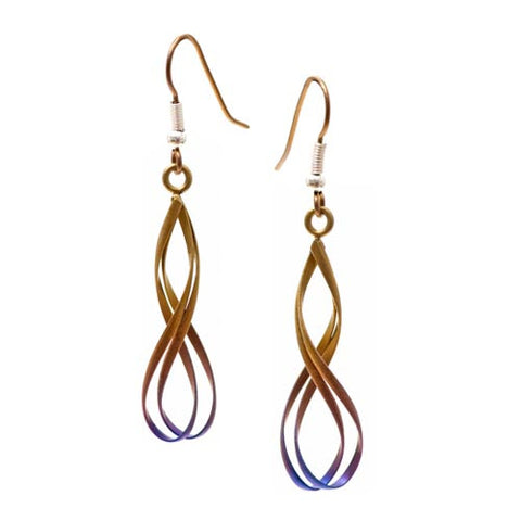 Titanium (Brown) Wirework Drop Earrings WE509