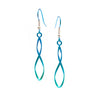 Titanium (Green) Wirework Drop Earrings WE512