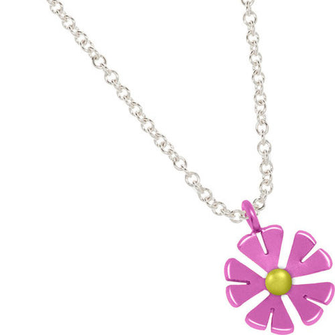 Titanium (Pink and Yellow) Flower Pendant P373.63V