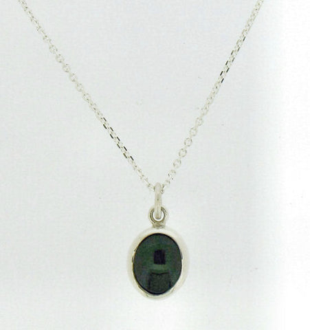 Jade and Silver Pendant on Chain YOUJ108