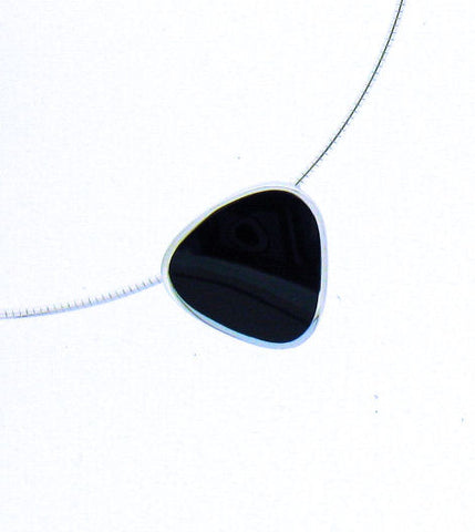 Whitby Jet & Silver Pendant CP125