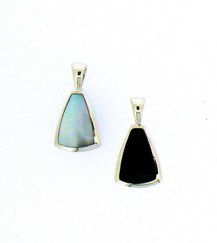Whitby Jet & Mother-of-Pearl Pendant CPD17B