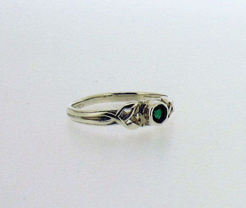 Emerald and Silver Ring AD18EM