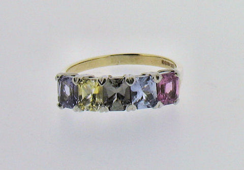 Sapphire (Multi-Colour) 9ct Gold Ring 7917