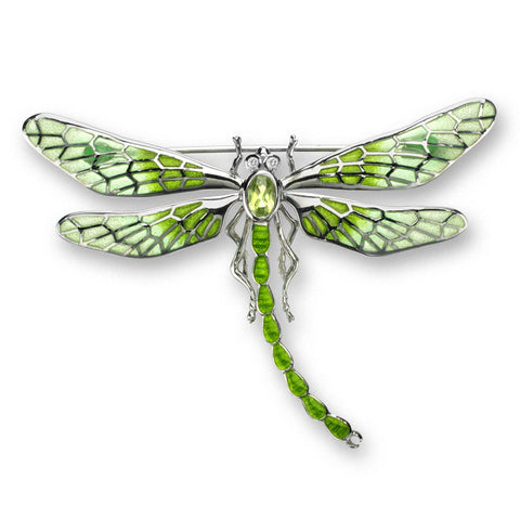 Enamel, Peridot and White Sapphire Dragonfly Brooch NB0143YB