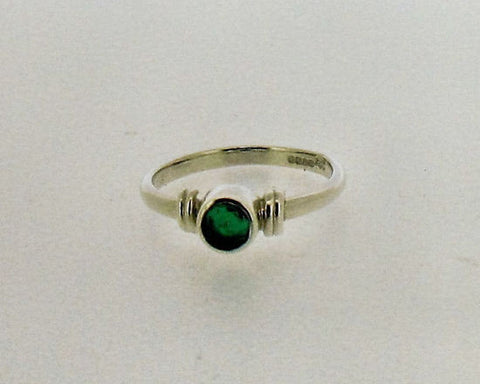 Emerald and Silver Ring NR31EM
