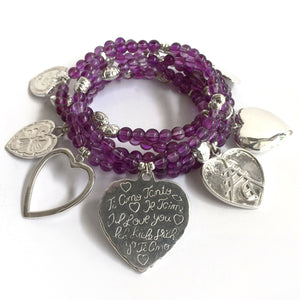 Super Love 6-Bracelet Amethyst Set - good charma
