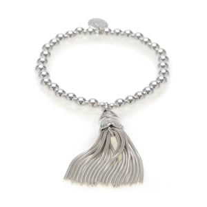 Tassel Medium Ball Bracelet - good charma