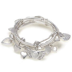 "Lucky ""13"" Heart 6-Bracelet Set - good charma"