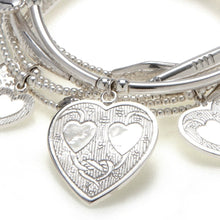 "Load image into Gallery viewer, Hearts ""LOVE"" Bracelet 6-Stack"