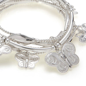 Butterfly Bracelet Set in Sterling Silver