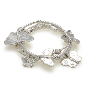 Butterfly 3-Bracelet Set - Good Charma