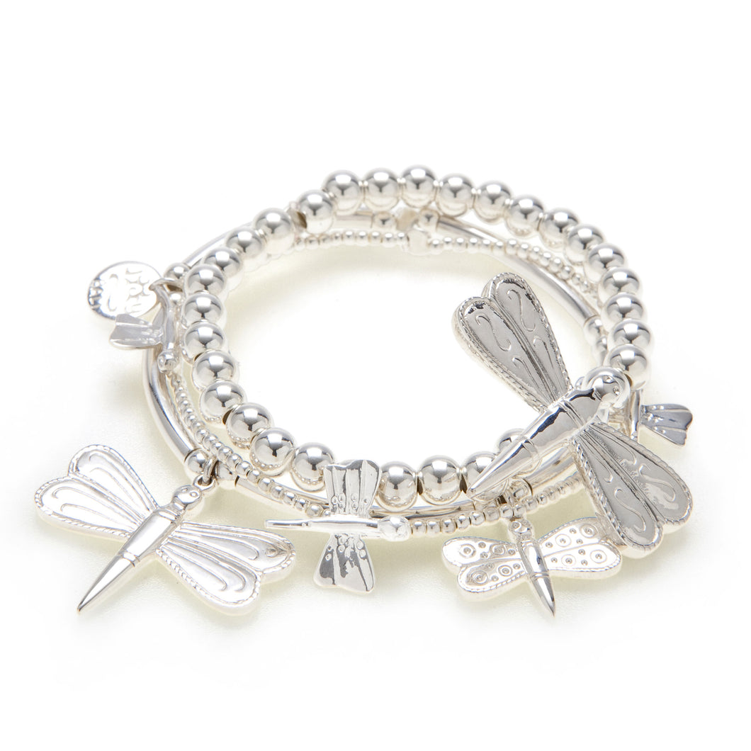 Dragonfly 3-Bracelet Set - Good Charma