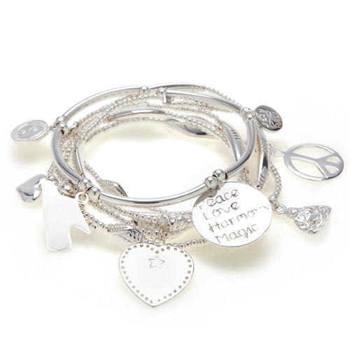 Peace 6-Bracelet Set - good charma