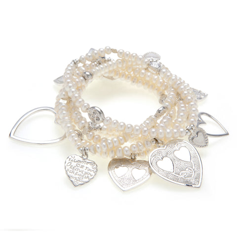 Love 6-Bracelet Pearl Set - Good Charma