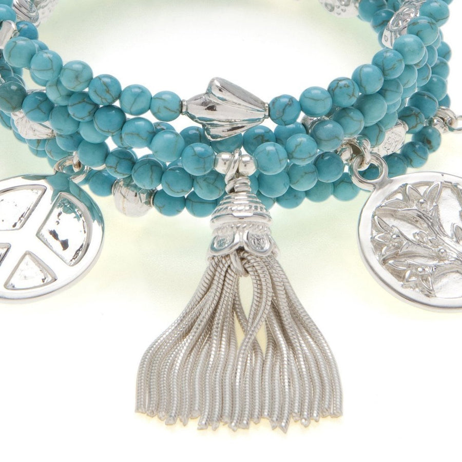 Inspiration 6-Bracelet Turquoise Set - good charma